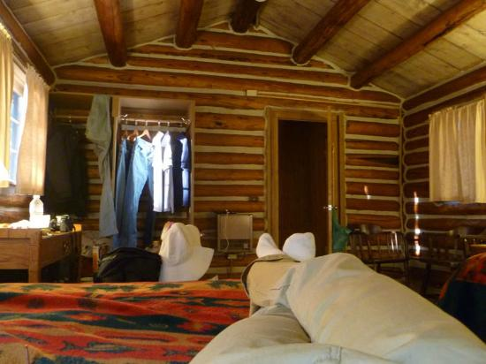 Colter Bay Village: Cabin, view from bed