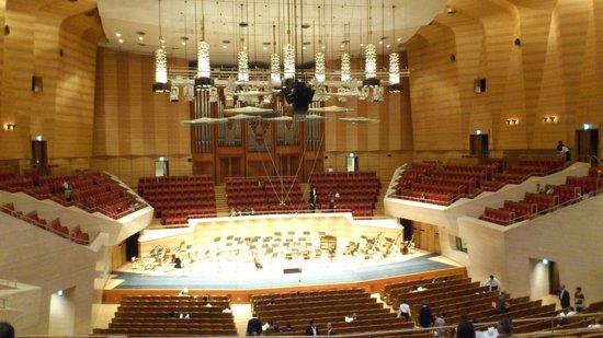 Minato, Japan: 大ホールはぶどう畑の段々のイメージ