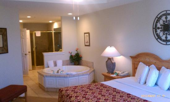 Tanglewood Resort and Conference Center : master bdroom in the studio