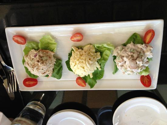 Buckhead Bread Company & Corner Cafe: tuna salad, egg salad and chicken salad