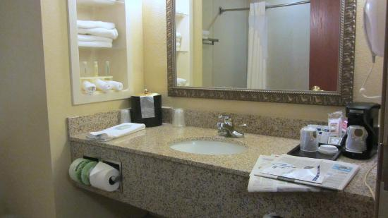 Holiday Inn Express Hotel & Suites Quincy I-10: Bathroom counter