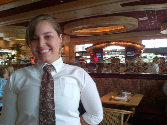 The Cheesecake Factory: Our server and the restaurant
