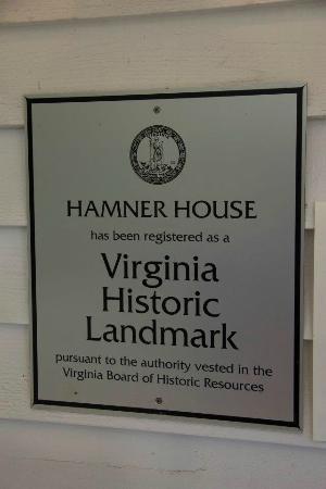 Walton's Mountain Museum: The Landmark plaque...