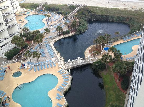 Wyndham Seawatch Plantation Pool Deck From The 10th Floor