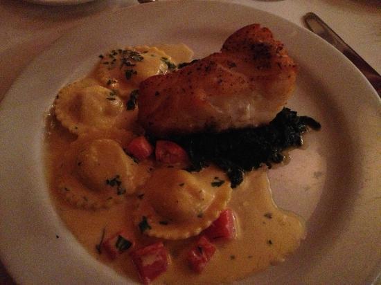 Sea Bass Looks Like A Piece Of Cake W Lobster Ravioli