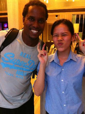 FX Hotel Metrolink Makkasan: My funny friend and Subway guide from the Front Desk.