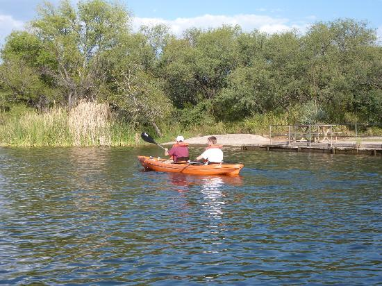 Pontoon row canoe kayak and other boats for rent for Patagonia lake fishing