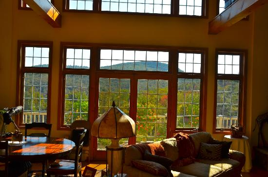 Cold Moon Farm Bed & Breakfast LLC: Inspiring view from the Great Room on main floor.