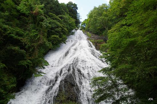 Yutaki Waterfall : Yudaki Waterfall 湯滝 at Lake Yunoko湯の湖