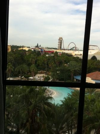 Hard Rock Hotel at Universal Orlando: view on the morning of check out from Suite 7100