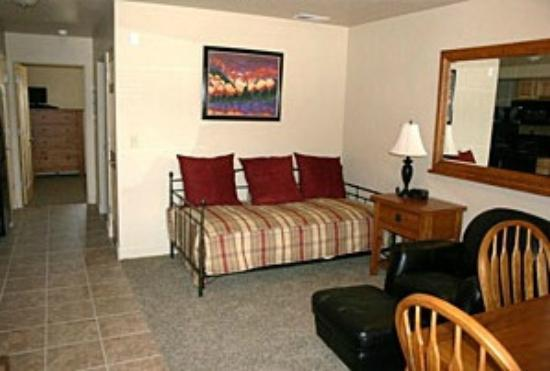 Centennial Suites : 525 square feet of spacious living quarters with complete kitchens and washer/dryer in each