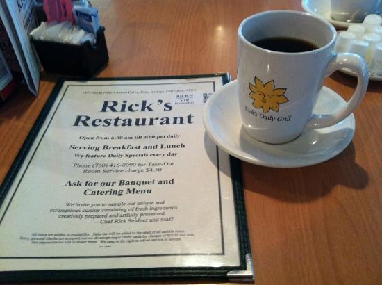 Rick's Restaurant & Bakery: Great Palm Springs breakfast option