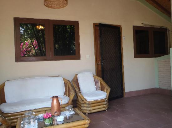 Pondok Bambu: Front balcony