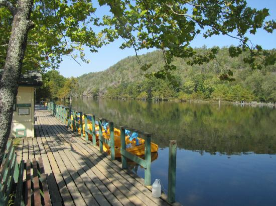 "Beavers Bend Resort Park: View from the ""home"" pier"