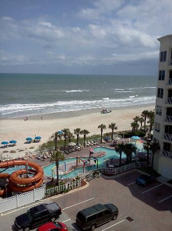 The Cove on Ormond Beach: View from our room of the pool area and beach
