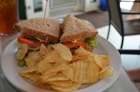 Kona Coffeehouse & Cafe at Honaunau : Veggie Sandwich at Kona Coffehouse & Cafe Honaunau