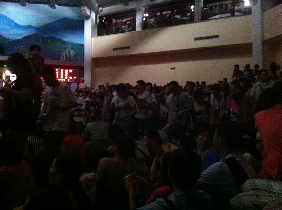 Shaolin Temple: The crowd in Kung Fu show.... Totally Awful!