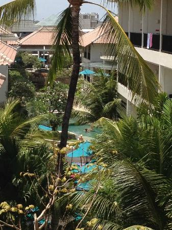 Radisson Bali Legian Camakila: view from top floor,outside room 2502