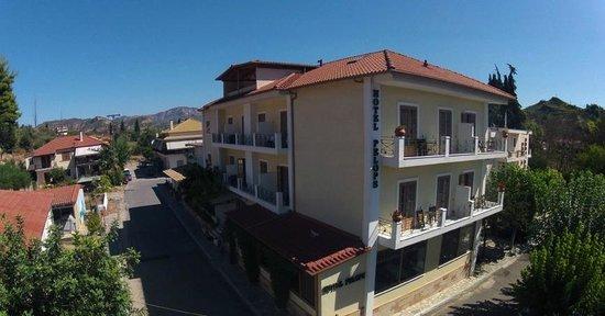 Hotel Pelops: Aerial view