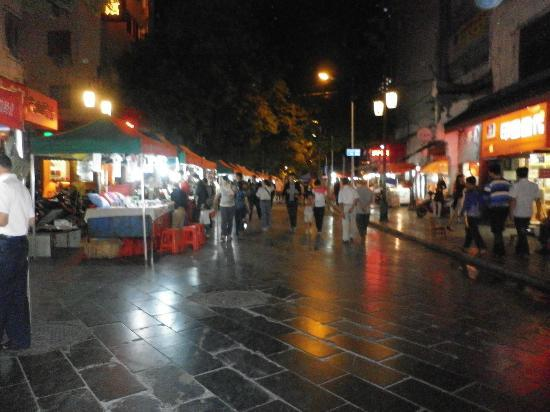 Guilin Homing Hotel: night market view from room