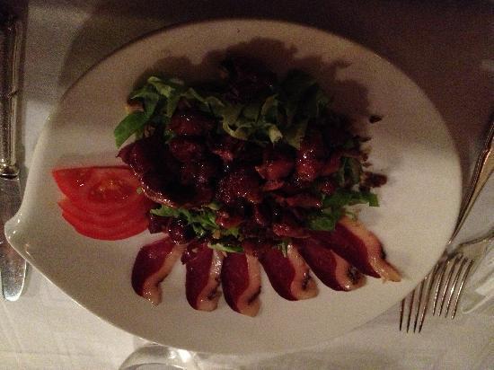 Le Moulin de Mombreux : Salade de gésiers.