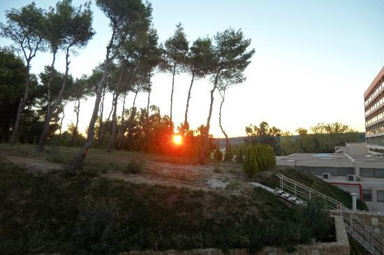 sunrise from our balcony - Picture of Sani Beach - Tripadvisor