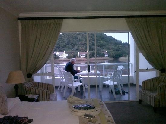 The Estuary Hotel & Spa: View onto balcony
