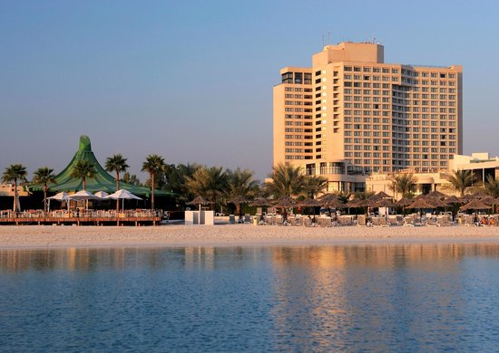 InterContinental Abu Dhabi: View of the hotel from the Arabian gulf