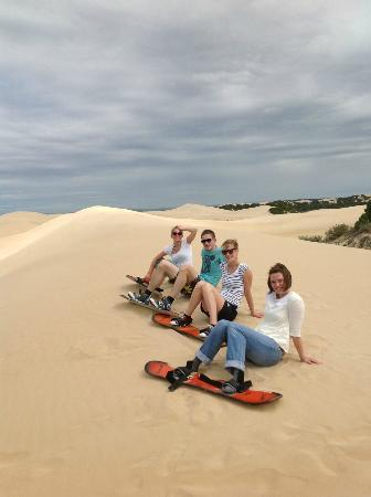 Sandboarding Sundays River: Ready to cruise :)