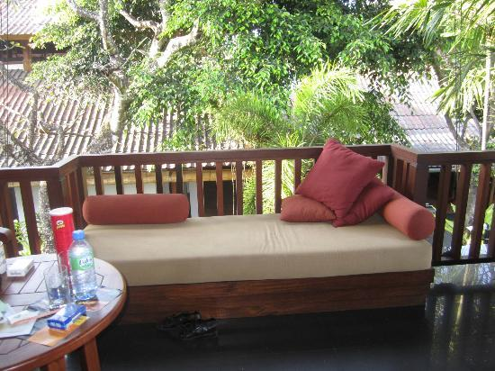 Upstairs balcony - deluxe rooms