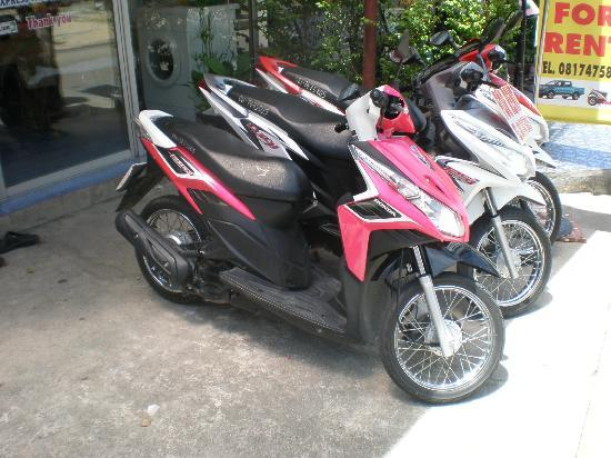 Pavilion Samui Villas & Resort: moped for hire