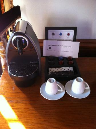 Hotel U Pava: In-room Nespresso, for a fee