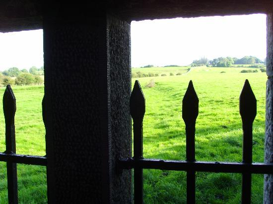 Ross Errily Friary: view out into the green tranquil fields