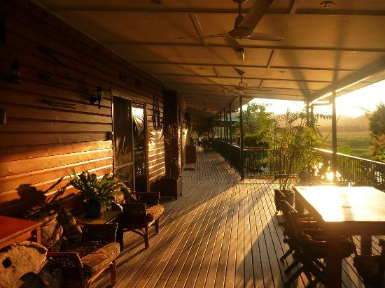 Daintree Riverview Lodges & Camp Ground : Sunrise on the deck