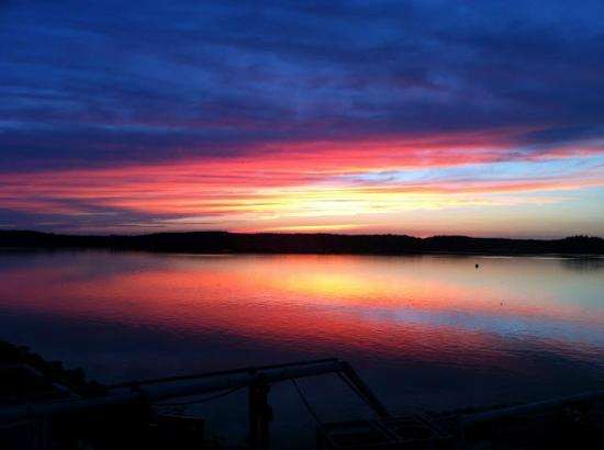 Spectacular Sunset from our room at The Inn at the Wharf