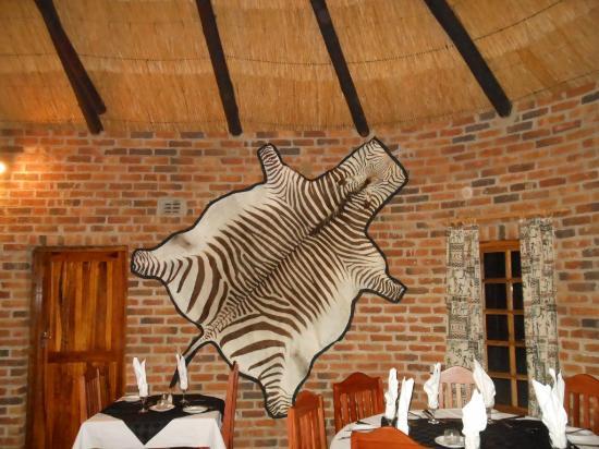 Southern Comfort Lodge: Nice Zebra Rug.
