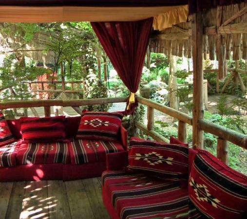 Hotel Majestic Mamaia: Gartenbereich mit gemütlichen Aufenthaltseinrichtungen