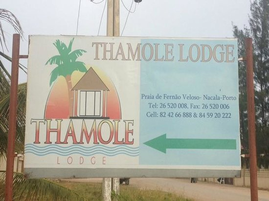 Nacala, Mozambique: The only sign-post to the Lodge