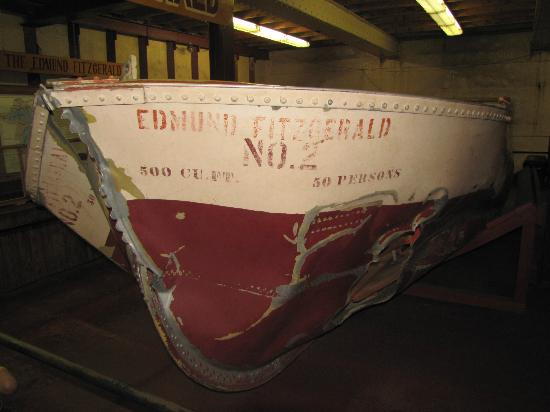 Museum Ship Valley Camp: lifeboat of the edmund fitzgerald