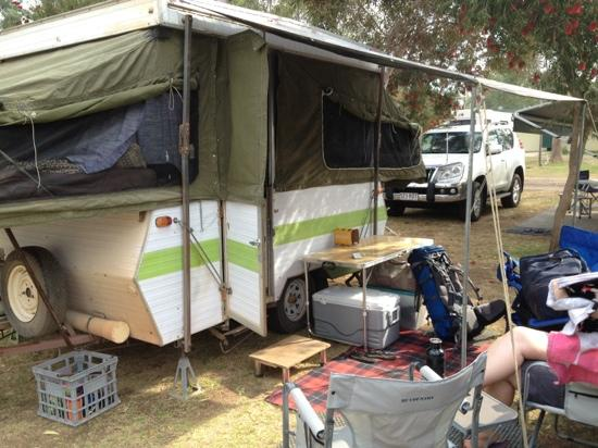 G'Day Mate Tourist Park: our camper certainly bought the value down.