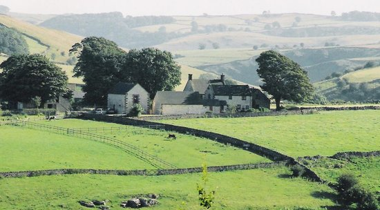 Cotterill Farm Holiday Cottages : view from across the dale