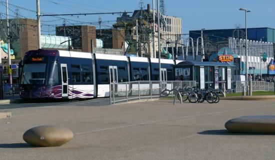 Blackpool Tramway: One of the new trams