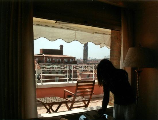 Bauer Palazzo: una finestra della suite presidenziale....
