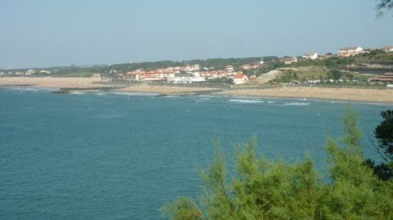 anglet, chambre d amour , vue du phare de Biarritz