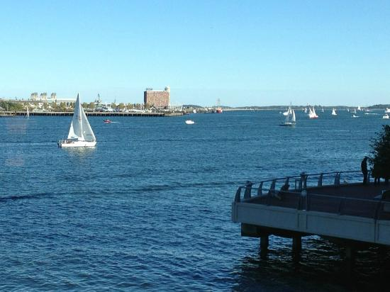 Battery Wharf Hotel, Boston Waterfront: View of the Harbour from my room