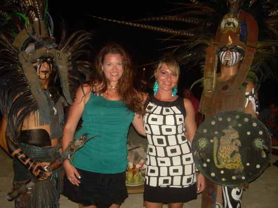Beloved Playa Mujeres: The Mayans after the performance on the beach