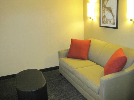 Cambria hotel & suites: sofa & another flat screen in this area