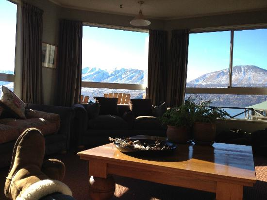 Lake Ohau Lodge: View from the lounge