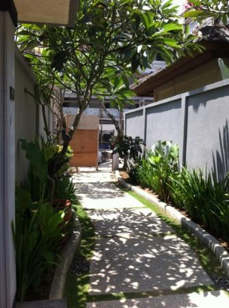 The Kuta Playa Hotel and Villas: view from our door