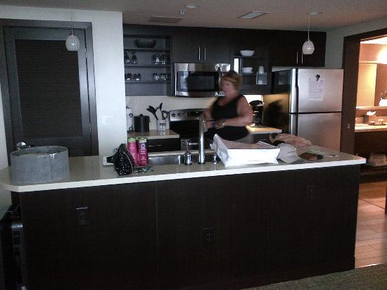 Oceanaire Resort Hotel Granite And Stainless Kitchen
